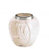 Base for grave lamp Spiga 10cm - 4in In Calizia marble, with steel ferrule