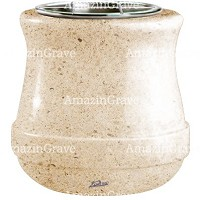 Flowers pot Calyx 19cm - 7,5in In Calizia marble, steel inner