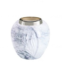 Base for grave lamp Spiga 10cm - 4in In Carrara marble, with steel ferrule