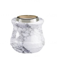 Base for grave lamp Calyx 10cm - 4in In Carrara marble, with steel ferrule