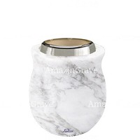 Base for grave lamp Gondola 10cm - 4in In Carrara marble, with steel ferrule