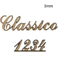 Letters and numbers Classico, in various sizes Single fret-worked bronze plaque 3mm