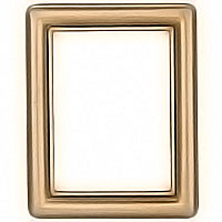 rectangular photo frame 11x15cm - 4,3x6in In bronze, wall attached 1229