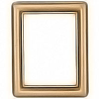 Rectangular photo frame 11x15cm- 4,3x6in In bronze with gold thread, wall attached 1229/D