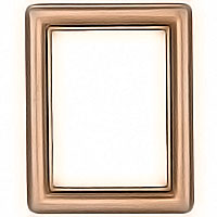 rectangular photo frame 9x12cm - 3,5x4,75in In bronze with gold thread, wall attached 1228/D