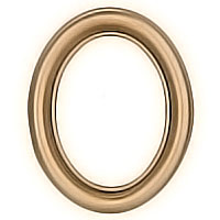 Oval photo frame 9x12cm - 3,5x4,75in In bronze, wall attached 1226