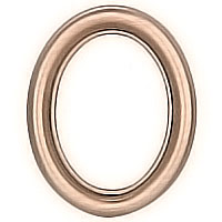 Oval photo frame 9x12cm - 3,5x4,7in In bronze, wall attached 1226