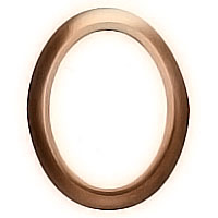 Oval photo frame 11x15cm - 4,3x6in In bronze, wall attached 1241