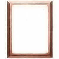 Rectangular photo frame 11x15cm - 4,3x6in In bronze, wall attached 1239