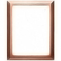 Rectangular photo frame 9x12cm - 3,5x4,75in In bronze, wall attached 1238