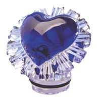 Blue crystal heart 10cm - 3,9in Decorative flameshade for lamps