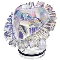 Iridescent crystal Heart 10,5cm - 4,1in Decorative flameshade for lamps