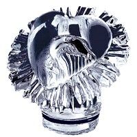 Crystal heart 10cm - 3,9in Decorative flameshade for lamps