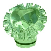 Green crystal Heart 10cm - 3,9in Decorative flameshade for lamps