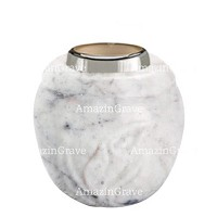 Base for grave lamp Calla 10cm - 4in In Carrara marble, with steel ferrule