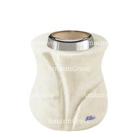 Base for grave lamp Charme 10cm - 4in In Pure white marble, with steel ferrule