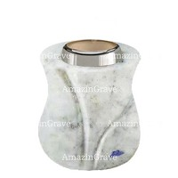 Base for grave lamp Charme 10cm - 4in In Carrara marble, with steel ferrule