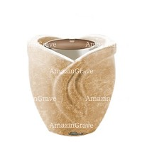 Base for grave lamp Gres 10cm - 4in In Travertino marble, with steel ferrule