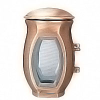 Lamp for candle 19cm - 7in In bronze, ground attached 2563