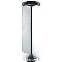Flower vase Esagonale, various sizes In stainless steel, ground or wall mount