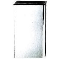 Flower vase Geometrico 20x10cm-7,8x3,9in In stainless steel, ground or wall mount