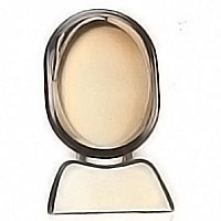 Oval photo frame 13x18cm- 5,1x7,1in In bronze, ground attached 1193