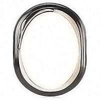 Oval photo frame 18x24cm- 7,1x9,4in In bronze, wall attached 1217