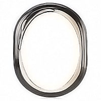 Oval photo frame 9x12cm - 3,5x4,7in In bronze, wall attached 1186
