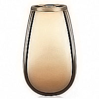 Flowers vase 20cm-8in In bronze, with copper inner, ground attached 2327/R