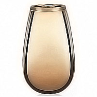 Flowers vase 20cm-8in In bronze, with plastic inner, wall attached 2328/P
