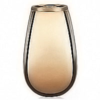 Flowers vase 20cm-8in In bronze, with copper inner, wall attached 2328/R