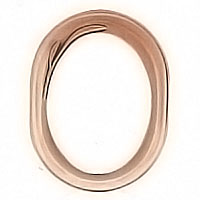 Oval photo frame 13x18cm - 5x7in In bronze, wall attached 1104