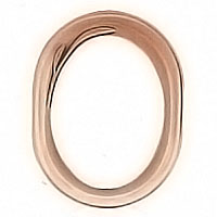 Oval photo frame 9x12cm - 3,5x4,7in In bronze, wall attached 1102