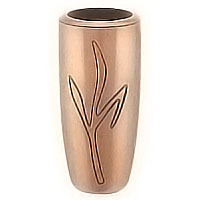 Flowers vase 20cm - 8in In bronze, with copper inner, ground attached 2202/R