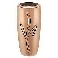 Flowers vase 20cm - 8in In bronze, with plastic inner, ground attached 2202/P