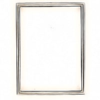 Rectangular photo frame 9x12cm - 3,5x4,75in In bronze, wall attached 1137