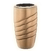 Flowers vase 20cm - 8in In bronze, with plastic inner, wall attached 2447/P