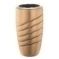Flowers vase 20cm - 8in In bronze, with copper inner, wall attached 2447/R