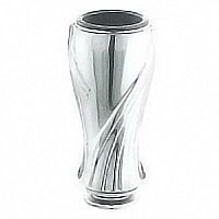Flower vase Esedra 18x9cm-7,1x3,5in In stainless steel, ground or wall mount