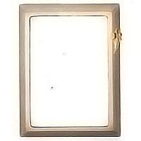 Rectangular photo frame 11x15cm - 4,3x5,9in In bronze, wall attached 1243