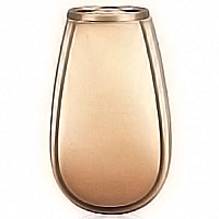 Flowers vase 20cm-8in In bronze, with plastic inner, wall attached 2209/P