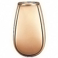 Flowers vase 20cm-8in In bronze, with plastic inner, ground attached 2211/P