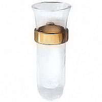 Orchid stand 10cm-3,9in In glass with golden stell wing, wall attached 50340/D