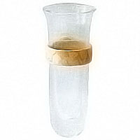 Orchid stand 10cm-3,9in In glass with Botticino marble wing, wall attached 50340/MB