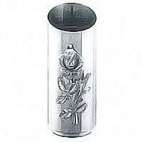 Flower vase Rosa 20x8,5cm-7,8x3,3in In stainless steel, ground or wall mount