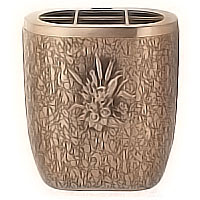 Flowers pot 18cm - 7,3in In bronze, with copper inner, ground attached 152327/R