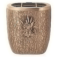 Flowers pot 18cm - 7,30in In bronze, with plastic inner, wall attached 162327/P