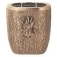 Flowers pot 18cm - 7,3in In bronze, with copper inner, wall attached 162327/R