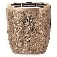 Flowers pot 18cm - 7,30in In bronze, with plastic inner, ground attached 152327/P