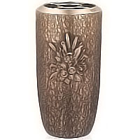 Flowers vase 30cm - 12in In bronze, with copper inner, ground attached 102351/R